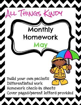 May Kindergarten Homework