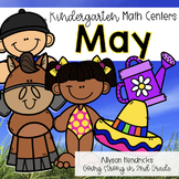 May Kindergarten Math Centers with Task Cards
