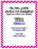May Kindergarten Math Journal Prompts