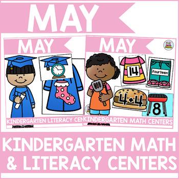 May Kindergarten Math & Literacy Centers