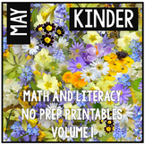 May Kindergarten Math and Literacy Packet NO PREP Common Core Aligned!