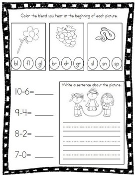 May Kindergarten Morning Work, Daily Math and Literacy Practice