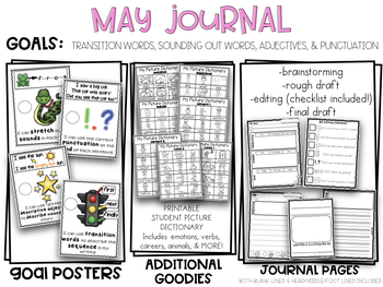 May Kindergarten Sequence of a Story w/ Editing Print & Go Writing Journal