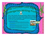 May Kindergarten Writing Prompts and Journal Pages (Common Core Aligned)