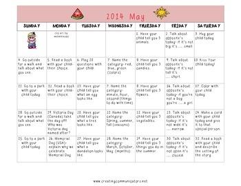 Freebie May Language Calendar