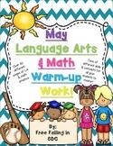 May Language Arts & Math Warm-up Work