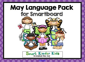 May Language Pack for SMARTboard - Updated 2015 with 17 new slides!