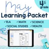 May Learning Packet 4th Grade I Google Slides and Print