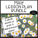 May Lesson Planning Bundle for Reading, Writing, Research