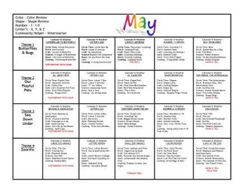 May Lesson Plans Series 1 [Four 5-day Units]