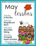 May Lesson Plans Series 3 [Four 5-day Unit]