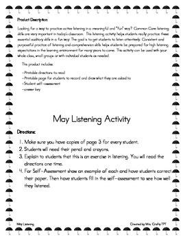 May Listening Activity