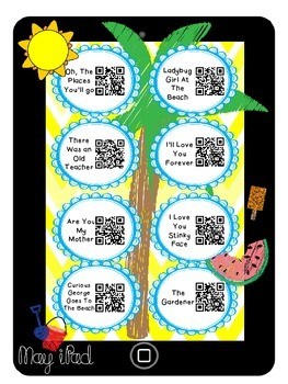 May Listening Center-QR Codes-Blackline and Recording sheets Included