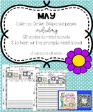 May Listening Center Response Pages QR Codes to read-alouds & Prompts