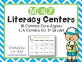 May Literacy Centers Menu {CCS} Grade 1