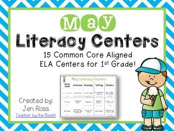 May Literacy Centers Menu {CCS} Grade 1