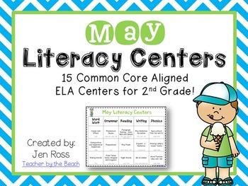 May Literacy Centers Menu {Common Core Aligned} Grade 2