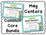 May Literacy & Math Centers Menu BUNDLE {Common Core Aligned} Grade 2