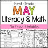 May Literacy & Math Packet - 1st Grade (No Prep Printables)
