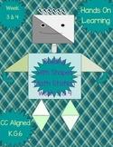 MORE Mr. Shape Man Math Stations Week 3 & 4 CC Aligned K.G.6