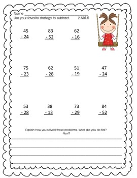 May Math Activity Pack for Second Grade-Common Core Aligned