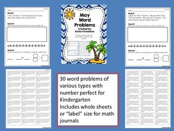 May Math BUNDLE for Kindergarten