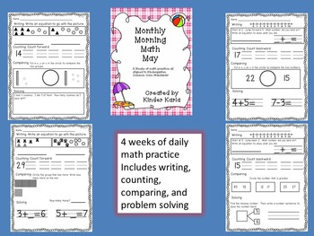 May Math BUNDLE for Kindergarten