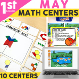 May Math Centers & Activities for 1st Grade | Digital & Printable | Math Games