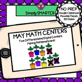 May Kindergarten Digital Math Centers For GOOGLE CLASSROOM