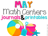 May Math Centers, Journals, and Printables First Grade