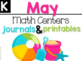 May Math Centers, Journals, and Printables Kindergarten