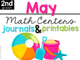 May Math Centers, Journals, and Printables Second Grade