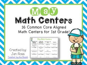 May Math Centers Menu {CCS} Grade 1