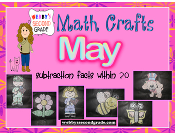 May Math Crafts  Subtraction Facts within 20