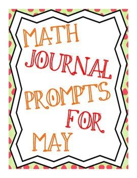 May Math Journal Prompts