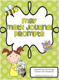 May Math Journal Prompts for First Grade