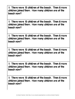 May Math Journal Word Problems for 1st Grade