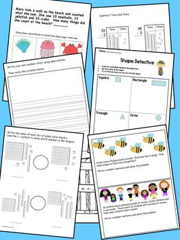 May Math Journal to fit CCSS Base Ten/Algebraic Thinking/Geometry/Measurement