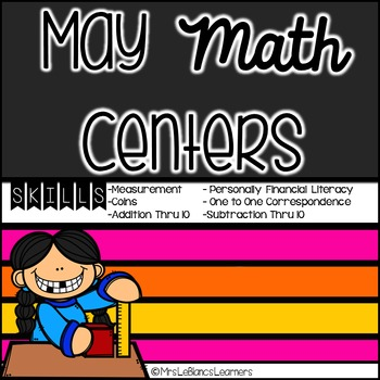 Kindergarten End Of Year Math & Literacy Center Bundle
