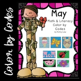 May Math & Literacy Color by Codes