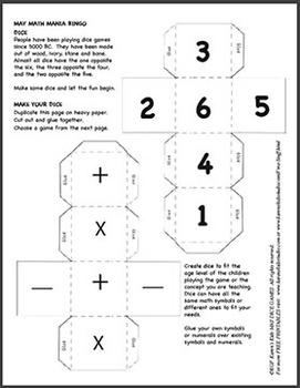 Calendar Fun May Math Mania