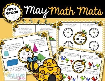 May Math Mats {first grade}