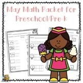 May Math Pack for Preschool/Pre-K
