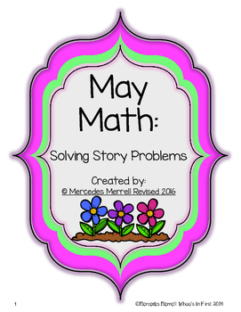 May Math:  Solving Story Problems