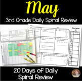 May Math Spiral Review: Daily Math for 3rd Grade (Print and Go)