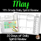 May Math Spiral Review (MONTH 9): Daily Math for 4th Grade