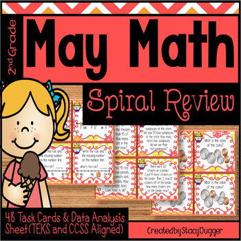 May Math Spiral Review Task Cards