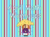 April Math Warm-ups