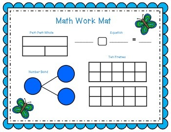 May Math Work Mat  1.OA.A.1  1.OA.C.6  1.OA.D.8