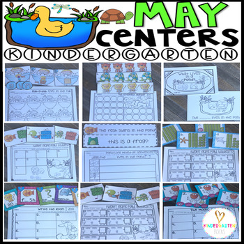 May Math and Literacy Centers {CCSS}